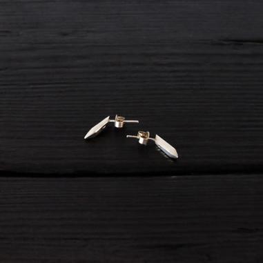 Boucles d'oreilles quartz longs argent 925