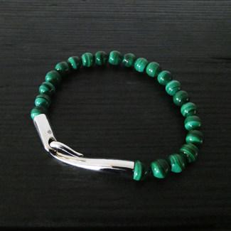 """Bracelet malachite et fermoir """"Limpide"""""""