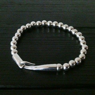 """Bracelet perles argent et fermoir """"Limpide"""""""