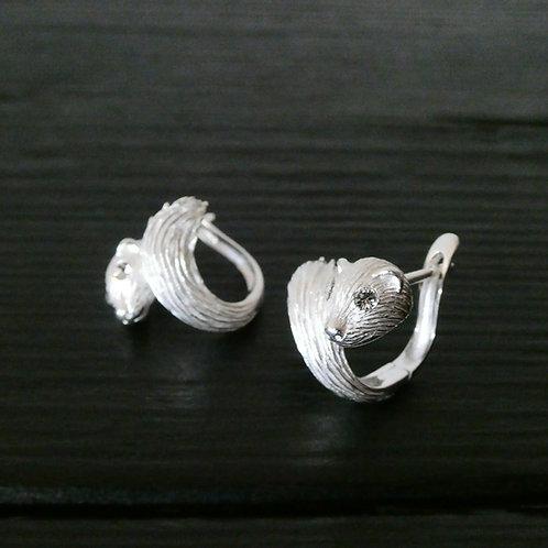Boucles d'oreilles Mink argent 925