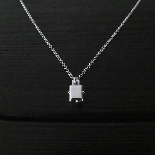"Collier pendentif ""Serti"" en argent 925"