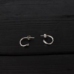 boucles d'oreilles anneaux pattes scarabée argent 925