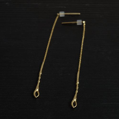 Boucles d'oreilles Pattes Scarabée 8cm Vermeil