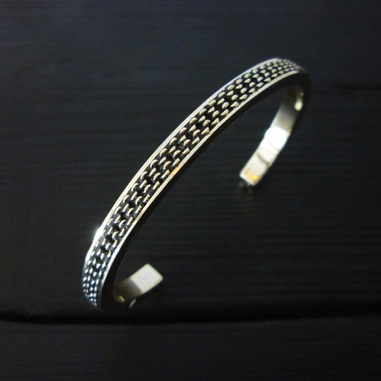 """Chain"" bangle bracelet, sterling silver"
