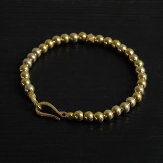 "Bracelet perles vermeil et fermoir ""Crochet"""