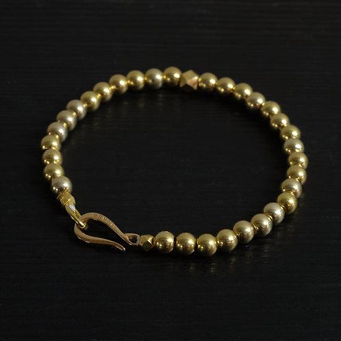 "Bracelet perles et fermoir ""Crochet"" vermeil"