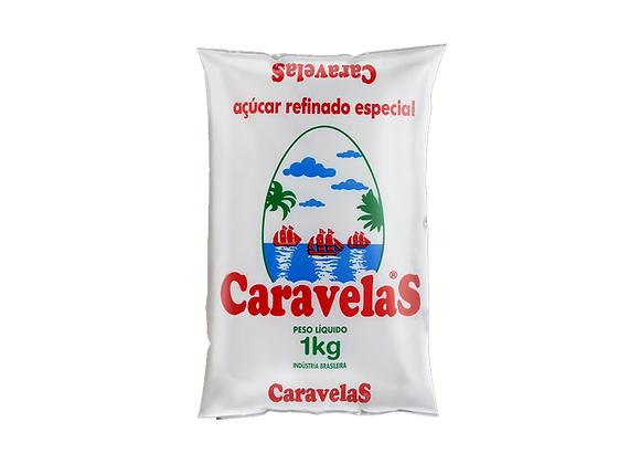 AÇÚCAR REFINADO CARAVELAS 1 KG (FDO 10 PCT)