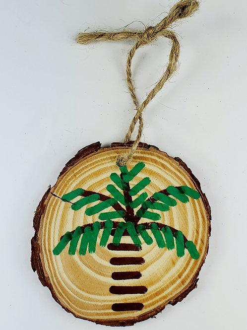 Palmetto Tree Wooden Ornament