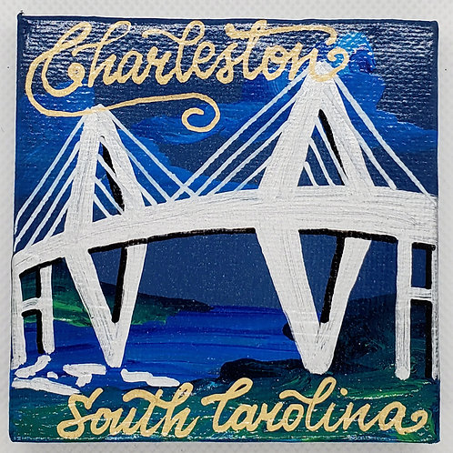 Ravenel Bridge Canvas Magnet