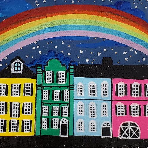 Night Rainbow over Rainbow Row
