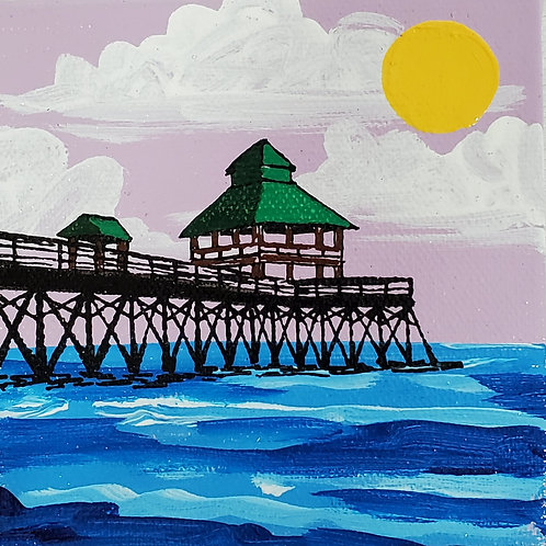 Folly Beach Pier on Lavendar Sky
