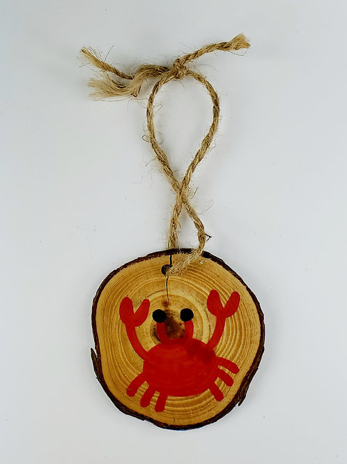 Crab Wooden Ornament