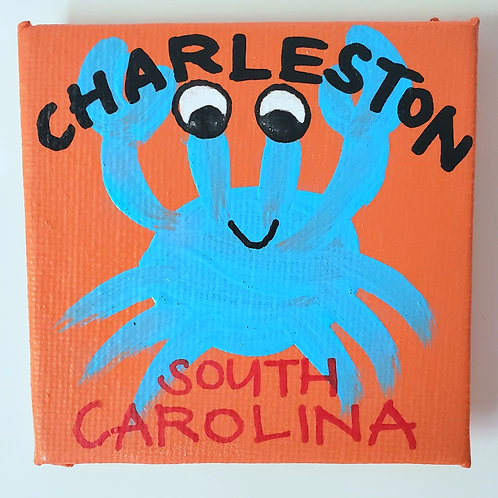 Blue Crab Canvas Magnet