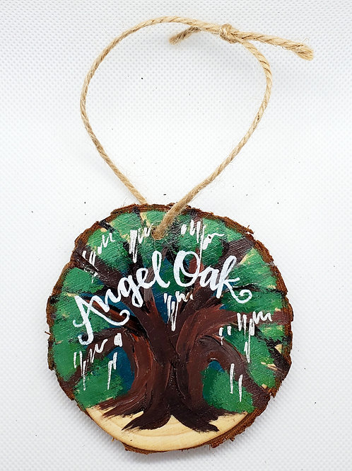 Angel Oak Wooden Ornament