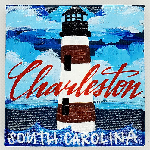 Charleston Night Lighthouse