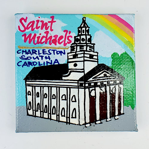 St. Michael's Church Canvas Magnet