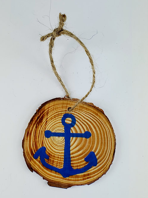 Anchor Wooden Ornament