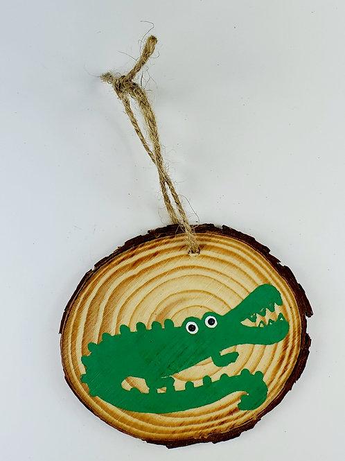 Alligator Wooden Ornament