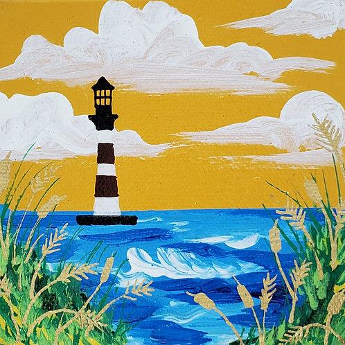 Lighthouse on Yellow Sky