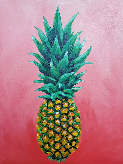 Pineapple on Red