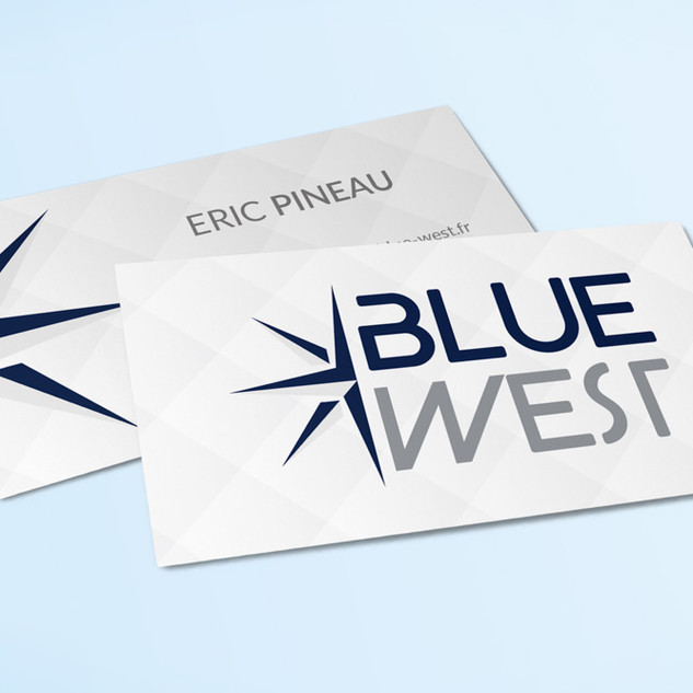 Carte de Visite Blue West