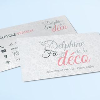 Carte Visite Delphine Fée de la Deco