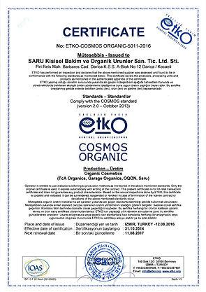 Saru-Organik-Cosmos-Organic-Sertifika-Certificate