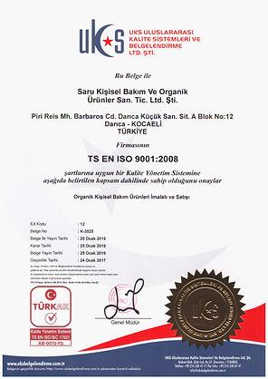 Saru-Organik-ISO-Belgesi