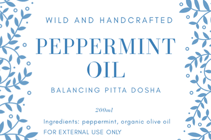PEPPERMINT INFUSED OIL  200ml