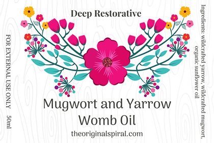 MUGWORT AND YARROW WOMB OIL 50ml
