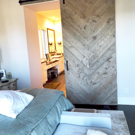 herringbone grey barn board