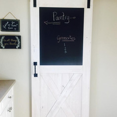 Chalk board pantry door