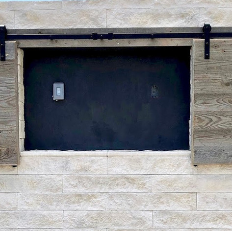 outdoor reclaimed wood shutters