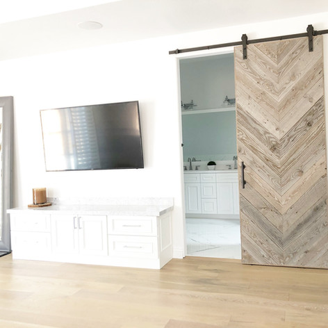 Reclaimed wood Huntington design