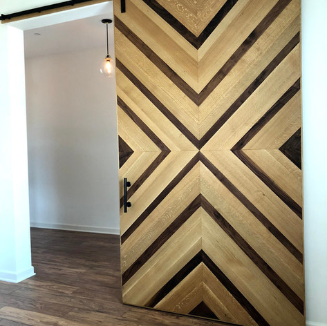 white oak and walnut custom design