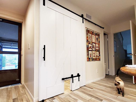 Drum Roll Please!....Introducing a Barn Door Cat Door!