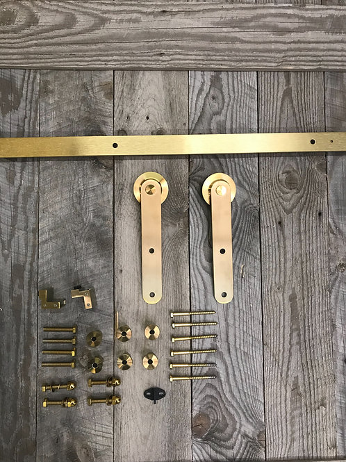 Vdara Brushed Gold Sliding Barn Door Hardware