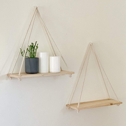 Wooden Rope Swing Wall Hanging Plant