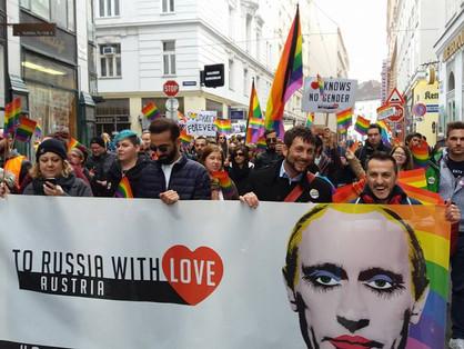 A csecsenföldi helyzet miatt vonultak utcára az osztrák melegek!