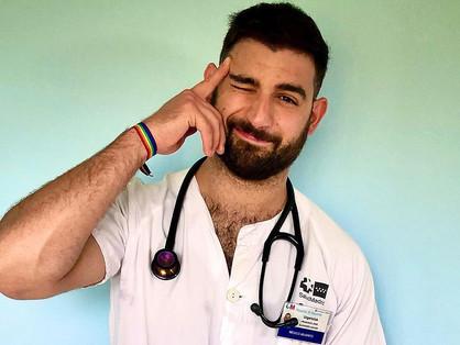 Egy meleg orvos üzent a járvány alatt partizóknak