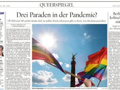 Queer oldalakkal jelent meg a  Tagesspiegel