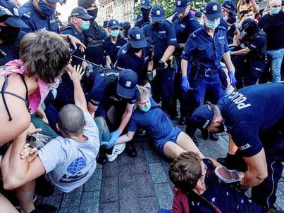 Demonstráció Budapesten a lengyel LMBT közösségért