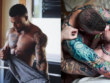 Keménységet okozó tetovált fickók melegeknek