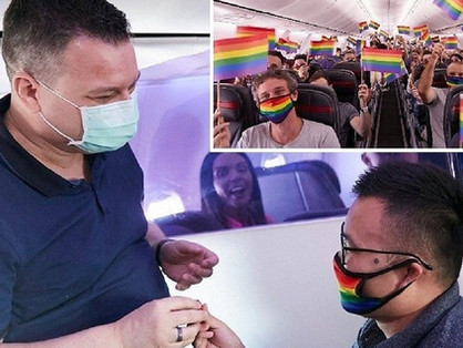 Egy meleg pár jegyezte el egymást az ausztrál Pride járat fedélzetén
