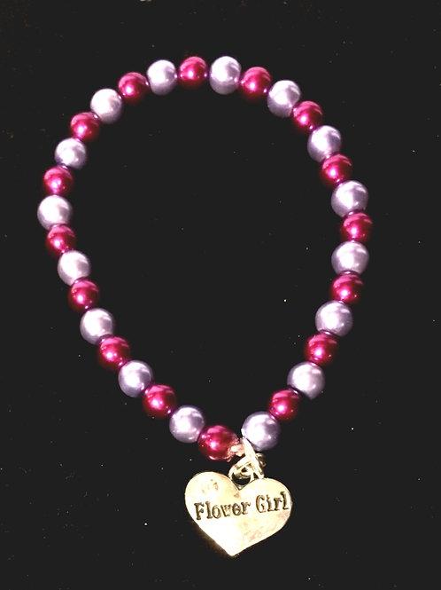 Small Shell Pearl Braclelet & Heart Charm