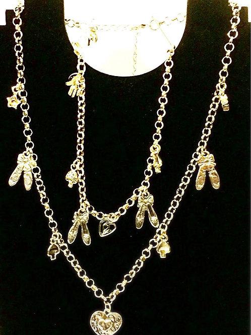 Sterling Silver Charm Necklace & Bracelet