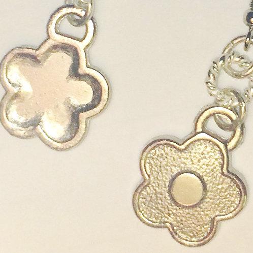 .925 Sterling Silver Flower Earrings