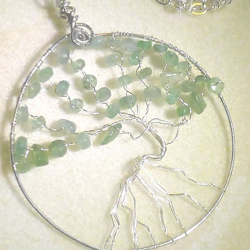 .925 Sterling Silver Tree of Life with Genuine Gemstones