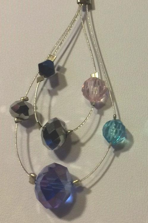 Coloured Quartz Crystals Earrings