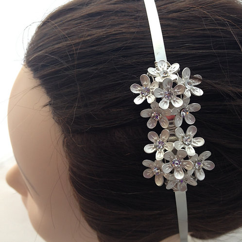 Different Coloured Metal Flower Hairbands